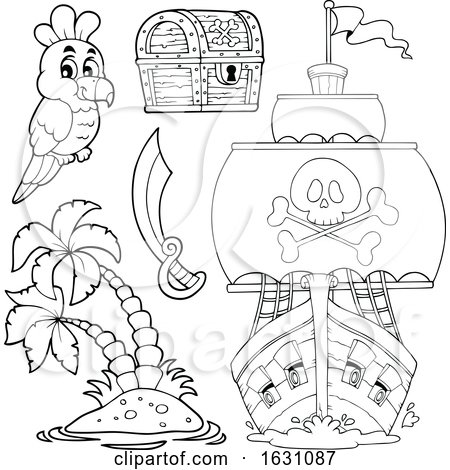 Pirate Ship and Icons by visekart