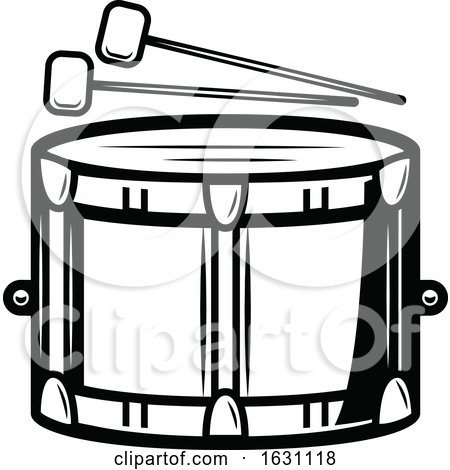 Black and White St Patricks Day Drum by Vector Tradition SM