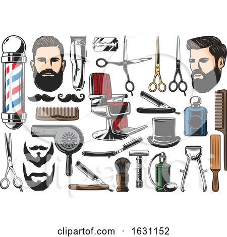 Barber Shop Icons Posters, Art Prints