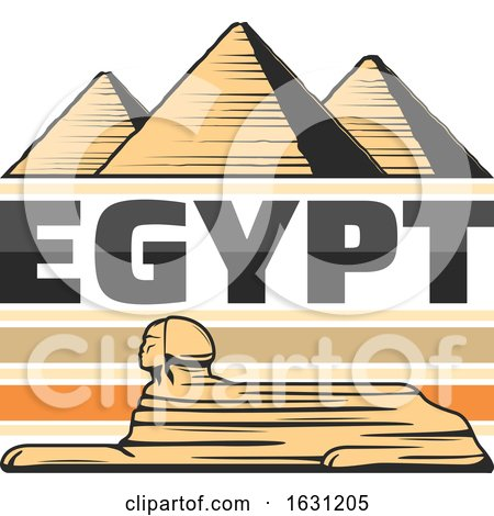 Great Sphinx of Giza and Pyramids by Vector Tradition SM