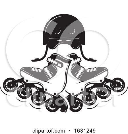 Black and White Roller Blades by Vector Tradition SM