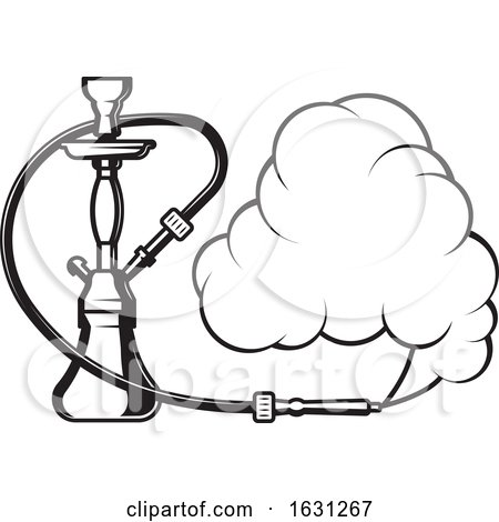 Black and White Hookah by Vector Tradition SM