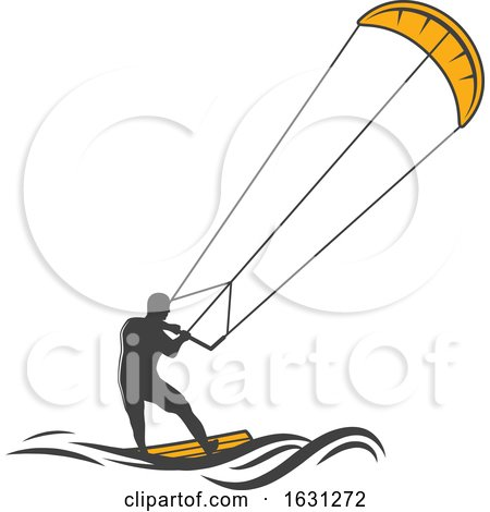 Kite Surfer by Vector Tradition SM