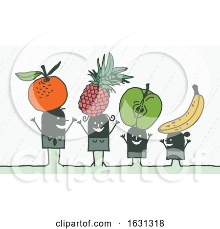 Black Stick Family with Fruit by NL shop