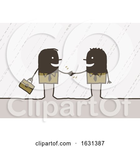 Black Stick Business Men Shaking Hands by NL shop