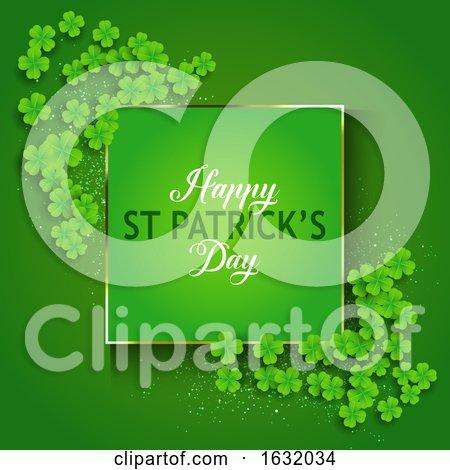 St Patricks Day Background with Shamrock by KJ Pargeter