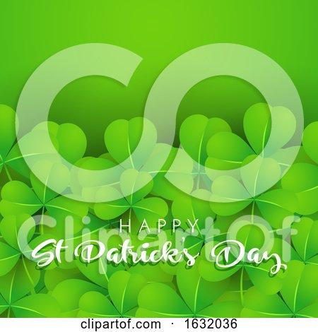 Background of Shamrock for St Patricks Day by KJ Pargeter