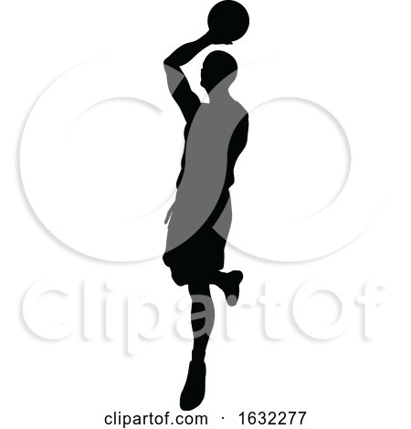 Basketball Player Silhouette by AtStockIllustration