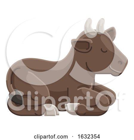Cow Animal Cartoon Character by AtStockIllustration