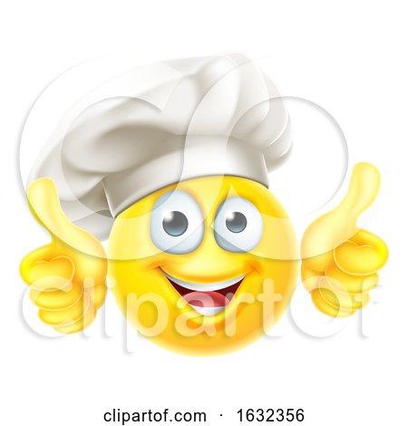Emoji Chef Cook Cartoon Thumbs up by AtStockIllustration