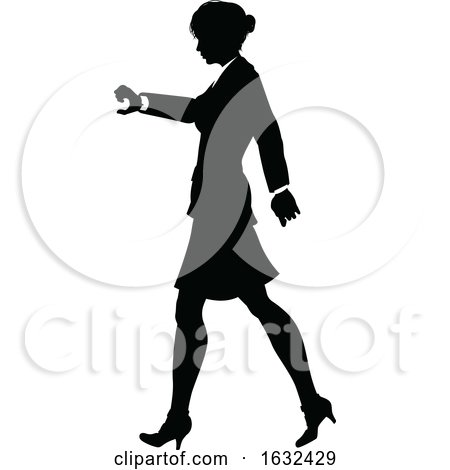 Business Person Silhouette by AtStockIllustration