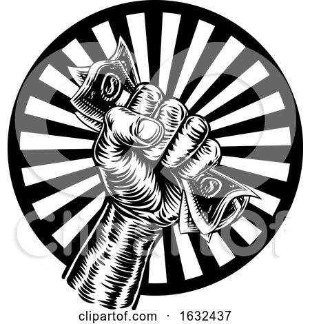 Fist Hand Holding Cash Money by AtStockIllustration