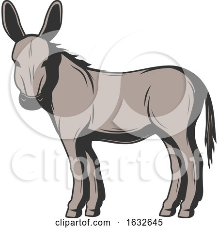 Retro Donkey by Vector Tradition SM