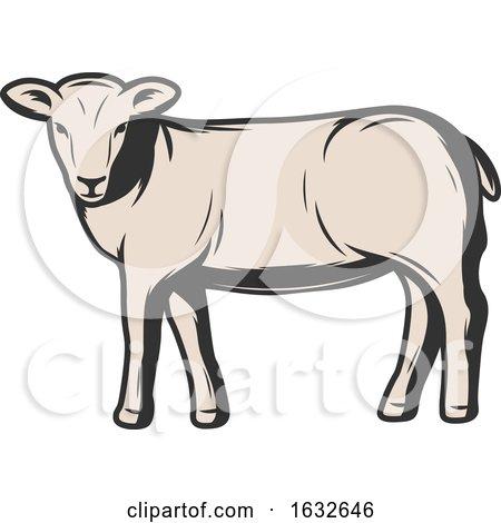 Retro Sheep by Vector Tradition SM