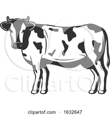 Retro Cow by Vector Tradition SM