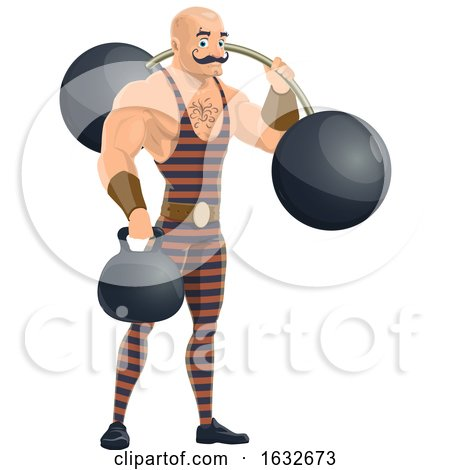 Circus Strongman by Vector Tradition SM
