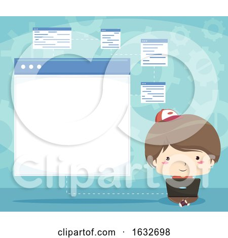 Kid Boy Programming Forms Illustration by BNP Design Studio