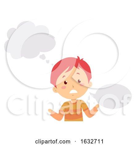 Kid Boy Stutter Think Speak Illustration by BNP Design Studio