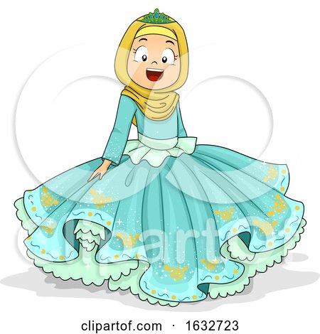 Kid Girl Muslim Princess Illustration by BNP Design Studio