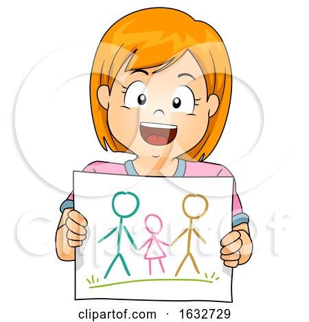 Kid Girl Draw Gay Family Illustration by BNP Design Studio