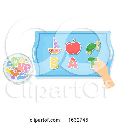 Hand Preschool Pre Reading Activity Illustration by BNP Design Studio
