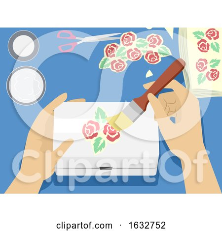 Hands Decoupage Illustration by BNP Design Studio