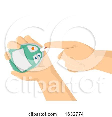 Hands Blood Sugar Monitor Illustration by BNP Design Studio