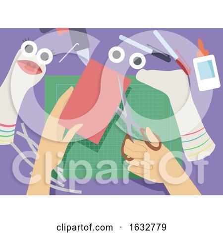Hand Sock Puppets Illustration by BNP Design Studio