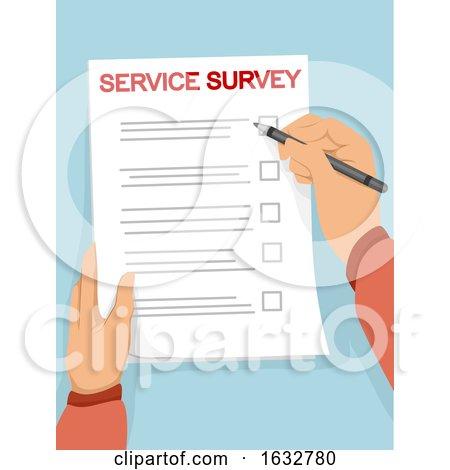 Hands Paper Service Survey Illustration by BNP Design Studio