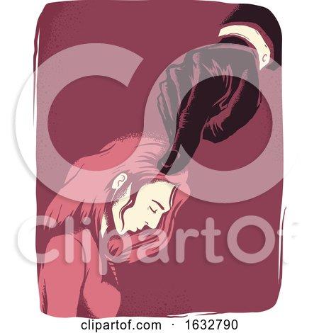 Girl Intimidated Hand Illustration by BNP Design Studio
