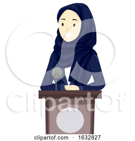 Girl Hijab Business Speaker Qatar Illustration by BNP Design Studio