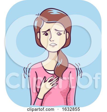 Girl Nervousness Illustration by BNP Design Studio