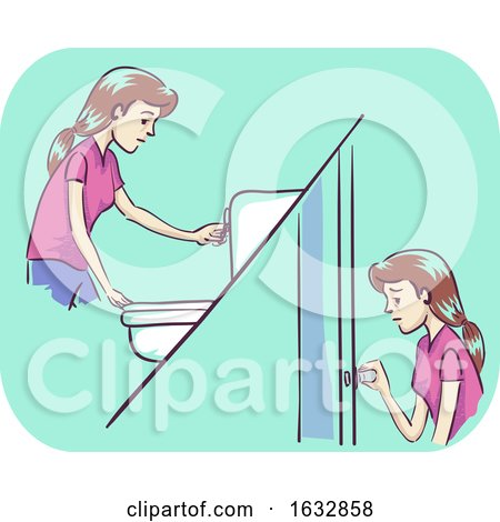 Girl Frequent Urination Illustration by BNP Design Studio