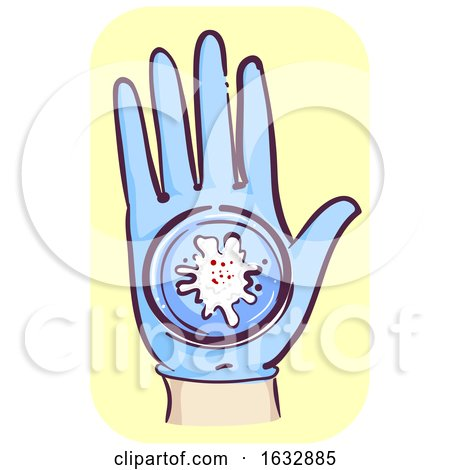 Hand Blood Semen Glass Gloves Illustration by BNP Design Studio