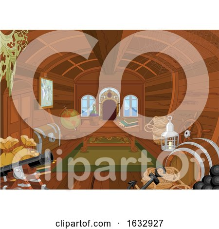Pirate Cabin Interior by Pushkin