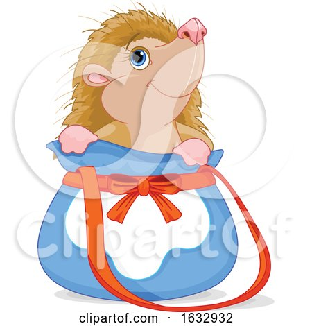 Cute Hedgehog in a Bag by Pushkin