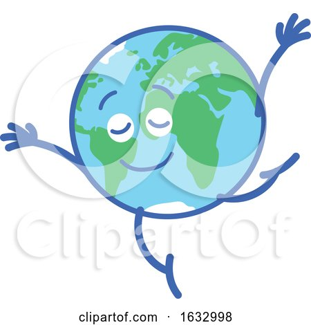 Earth Globe Character Dancing by Zooco