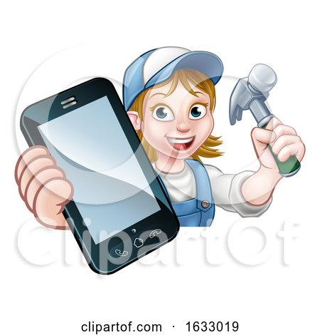 Carpenter Handyman Phone Concept by AtStockIllustration