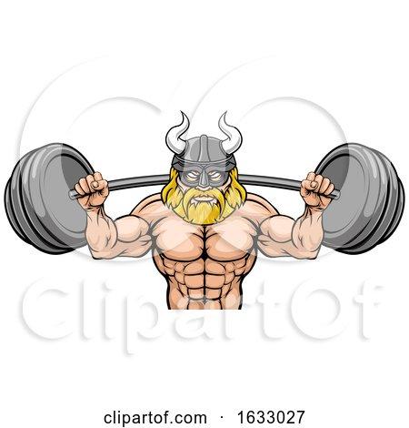 Viking Weight Lifting Body Building Mascot by AtStockIllustration