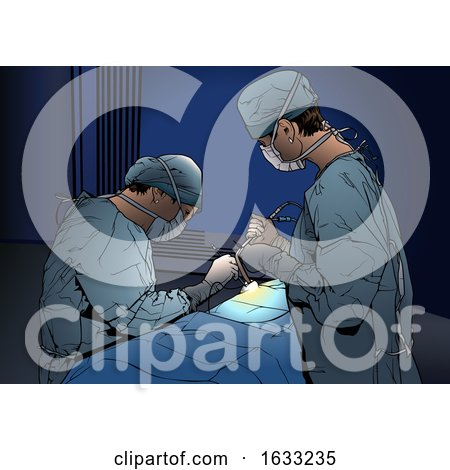 Surgeons Performing an Operation by dero