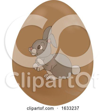 Chocolate Easter Egg with a Rabbit by elaineitalia