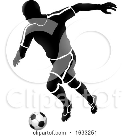 Soccer Football Player Sports Silhouette by AtStockIllustration