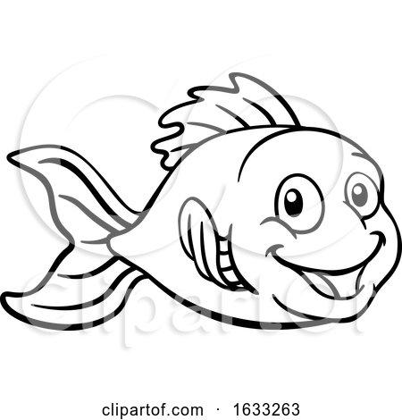 Goldfish or Gold Fish Cartoon Character by AtStockIllustration