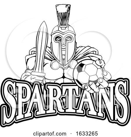 Trojan Spartan Soccer Football Sports Mascot by AtStockIllustration