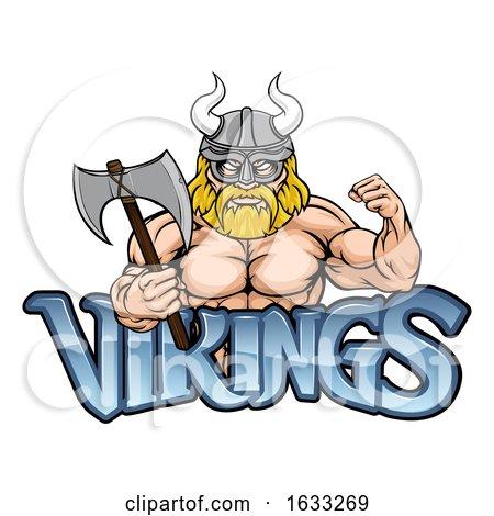 Viking Cartoon Sports Mascot by AtStockIllustration
