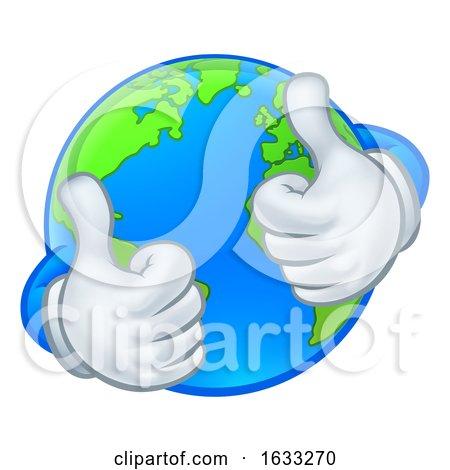 Earth Globe World Mascot Cartoon Character by AtStockIllustration