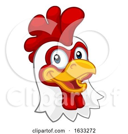 Chicken Cartoon Rooster Cockerel Character by AtStockIllustration
