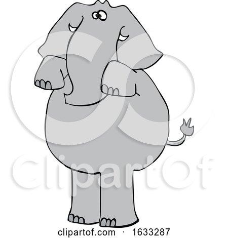Cartoon Elephant Begging by djart