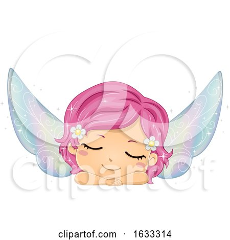 Kid Girl Fairy Sleeping Illustration by BNP Design Studio
