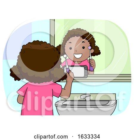 Kid Girl Mirror Phone Electric Toothbrush by BNP Design Studio